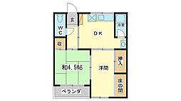 ビレッジ田寺[2階]の間取り