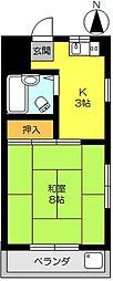 アムール鍋島[212号室]の間取り