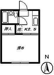 ジュネス峯木[203号室]の間取り