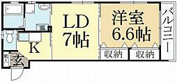 ウィステリア弐番館[4階]の間取り