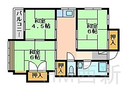 福岡県福岡市早良区昭代3丁目の賃貸マンションの間取り