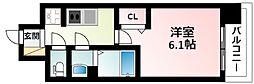 Osaka Metro御堂筋線 東三国駅 徒歩12分の賃貸マンション 9階1Kの間取り