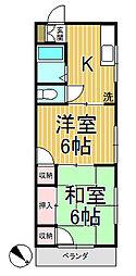 コーポ稲垣[2-A号室]の間取り