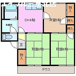 ハウスサンホワイト 2[1階]の間取り