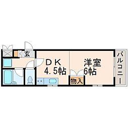 兵庫県西宮市今津巽町の賃貸マンションの間取り