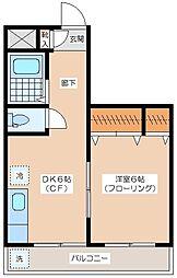 CASA IWANAMI[3階]の間取り