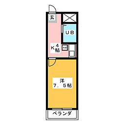 タウニーBIG  TOMORROW[2階]の間取り