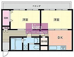セントラル蒔田マンション[3階]の間取り