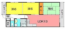 カサベルデイケダIII[8階]の間取り