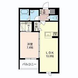 埼玉県さいたま市中央区八王子3丁目の賃貸マンションの間取り