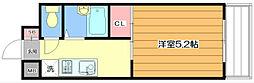 横山第6マンション[1階]の間取り