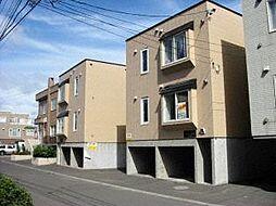 北海道札幌市北区新琴似五条1丁目の賃貸アパートの外観