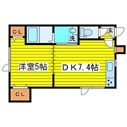 北海道札幌市東区北十七条東2丁目の賃貸アパートの間取り