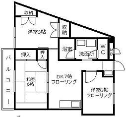 タマリスク筑紫丘[3階]の間取り