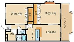 JR山陽本線 姫路駅 バス20分 西夢前台3丁目下車 5.3kmの賃貸マンション 5階2LDKの間取り