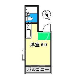 ピュアコート高須[3階]の間取り