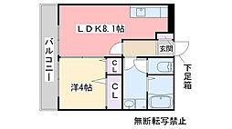 福岡県福岡市城南区梅林6丁目の賃貸アパートの間取り