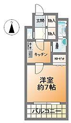 プレジオ南堀江[13階]の間取り