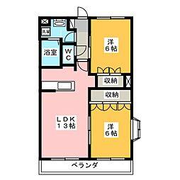 ラ・ウィンクル[3階]の間取り