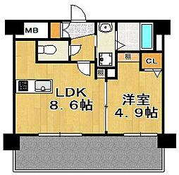 三島マンション博多駅東[8階]の間取り