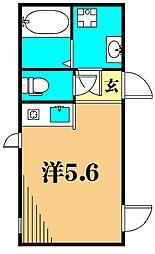 PROTO大井町I 2階ワンルームの間取り