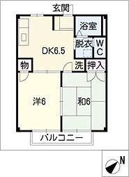 サンライズ前田[2階]の間取り