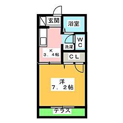メゾンセピアA・B[1階]の間取り