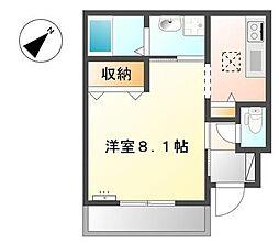 M&M'sアサギリ[1階]の間取り