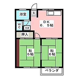 コーポワタナベ[2階]の間取り