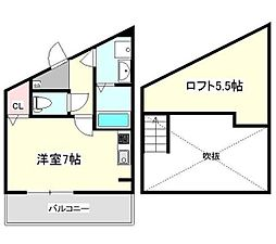 神奈川県横浜市磯子区森4丁目の賃貸アパートの間取り