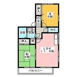 ハイツブラボー[2階]の間取り