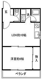高山マンション[202号室]の間取り