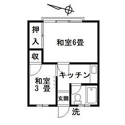 東京都豊島区南大塚2丁目の賃貸マンションの間取り