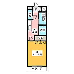 グリーングラス壱番館[1階]の間取り