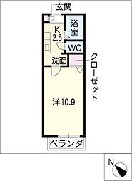 クレア塩釜[1階]の間取り