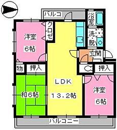 第3大野ビル[3階]の間取り