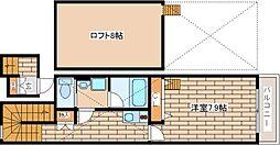 兵庫県神戸市中央区上筒井通5丁目の賃貸アパートの間取り