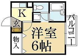 ドミール松ヶ崎[1階]の間取り