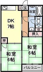 奥村マンション[101号室号室]の間取り