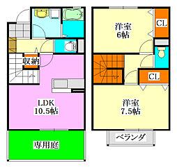 千葉県習志野市香澄2丁目の賃貸アパートの間取り