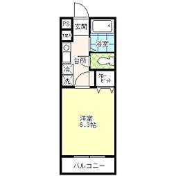 東京都江戸川区平井6丁目の賃貸アパートの間取り
