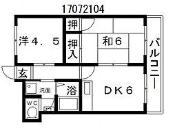 コーポ登和[4階]の間取り