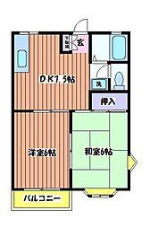 リバーハイム 栄町[2階]の間取り