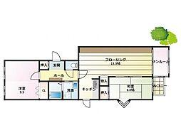 三宮東ハイツ[907号室]の間取り