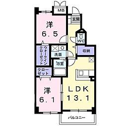 ビエントSA[2階]の間取り