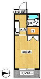 OKマンション[3階]の間取り