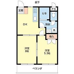 パールマンションA[301号室]の間取り