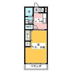 メゾンエリカワ[3階]の間取り