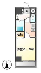 万宝マンション[6階]の間取り