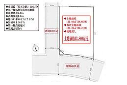 祐天寺駅徒歩5分/南西角地/6m公道/土地面積39坪/延床面積2階建て180平米可